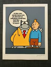 GELUCK * LE CHAT * TINTIN * SERIGRAPHIE MON PAUVRE LUCKY LUKE * NUMEROTE & SIGNE