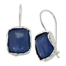 Silpada 'Cubic Square' Natural Kyanite Drop Earrings in Sterling Silver
