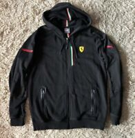 Rare Official Scuderia Ferrari Puma Hoody Sweat Jacket Italian Flag F1 / US = S