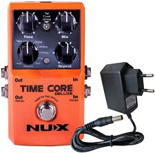 NUX Time Core Deluxe Multi Delay Pedal + Keepdrum 9V Netzteil