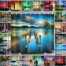 Dreamlike Landscape Shower Curtain With Hooks Waterproof Bath Curtains Home Deco