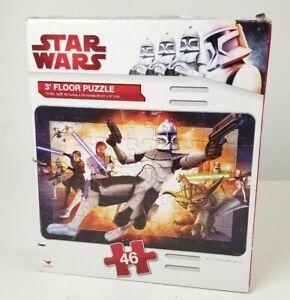"Star Wars The Clone Wars Floor Puzzle 46 Pieces 3 feet 36"" x 24"" Bounty Hunter"