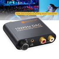 192KHZ Digital Optical Toslink To Analog Stereo DAC L/R 3.5mm Audio Converter