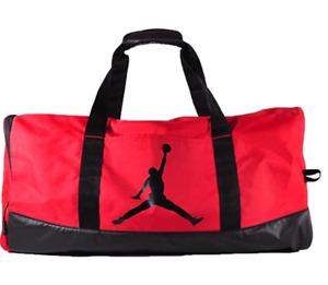 Air Jordan Jumpman Water Resistant Duffle Bag, Black, Gym Red, Silver Variations