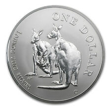 1999 1 oz Silver Australian Kangaroo Coin - In Display Card - SKU #14879