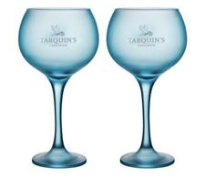 More details for x 2 tarquins goblet-style blue gin glass