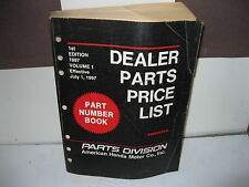 HONDA FACTORY DEALER PARTS PRICE LIST Effective July 1997 Vol. 1