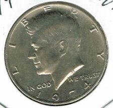1974 Philadelphia Uncirculated Copper-Nickel Clad Copper Strike Half Dollar Coin