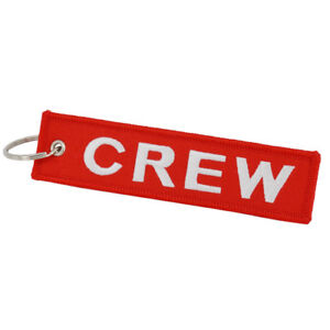 Red CREW Tag x 1 Luggage Tag | Pilot Keychain | Cabin Crew | Airline Crew | Jet2
