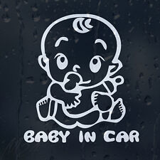 Baby In Car Decal Vinyl Sticker For Window Or Panel Or Bumper
