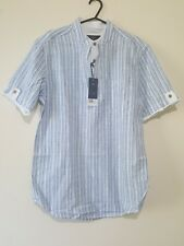 BHS Atlantic bay size XXL short sleeve striped shirt NEW WITH TAGS!!!