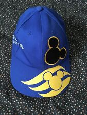 Disney Cap Hat Adjustable Buckle Oceaneer Club Blue Yellow Unisex