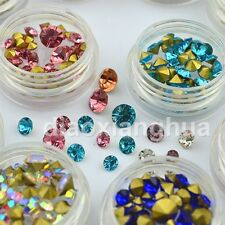 12 Colors Mix Sizes 3D Nail Art Decoration Rhinestones Nails Jewelry Accessories
