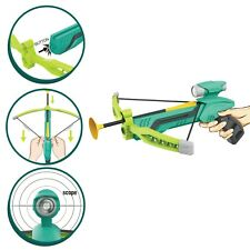 Cross bow sports bow with 3 suction darts Green  outdoors indoors