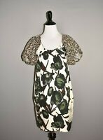 HANII Y $575 Puff Sleeve Silk Printed Tunic Dress IT 38 / US 0