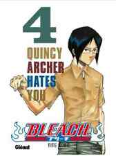 "manga Bleach Tome 4 Tite KUBO Neuf Glenat ""Quincy Archer Hates You"" Shonen Anime"