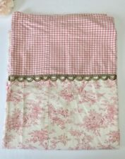 Pink French Provincial Garden Gingham Print Fabric Shower Curtain Custom Made
