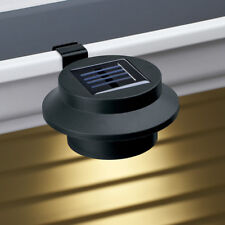 Solar Clip-On Gutter Light, Black, Light Sensor, LED Light Home Security
