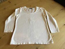 Ladies White Hobbs Long Sleeve T Shirt Size Medium