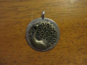 JEWEL KADE Peacock Medallion Pendent
