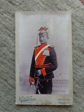 Soldatenphoto Farbe Dragoner Husar Hanau am Main Säbel Selten Rar!!