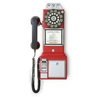 1950's Payphone- Red RED