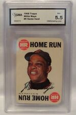 1968 TOPPS WILLIE MAYS #8 GAME CARD- GRADED 5.5EX+