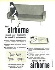 Publicité Advertising 018  1962  canapé-lit  fauteuil Airborne