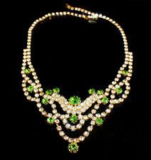 Zierliches Strass Collier - Crystal/Grün - 1A-Qualität aus Böhmen - #822