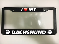 Chrome License Plate Frame I Heart My Akita  Auto Accessory Peticular