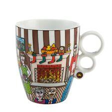 """JAMES RIZZI - Pop Art - """" Noël with the famille """" - tasse de thé avec filtre"""