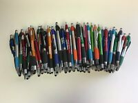 100 Lot Misprint Ink Pens with Soft Tip Stylus for Touch Screen, Assorted Barrel