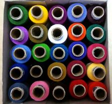 25 Hand Machine Stitching SEWING THREAD SPOOLS 327 yds COATS SALE SET 1 #ADEH0