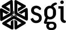 "SGI - Silicon Graphics LOGO VINTAGE - 6.75"" X 3"" - SET OF 2 - BLACK"