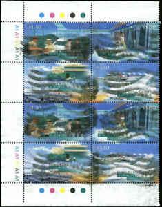 Hong Kong Scott #816( 2), #817 (2), #819 (2), #820 (2) Plate Block of 8 Used