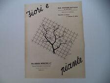 advertising Pubblicità 1940 FIORI E PIANTE MARRONE R. MELITO/GENNARO IMPERATORE