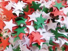 Xmas Red, White, Green Tissue Stars Wedding Confetti Bio  FILL CONES