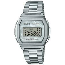 Casio Vintage Reloj Luz Cronometro Alarma Calendario automático Acero A1000D-7EF