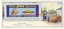 SUNOCO GASOLINE 1935 BLOTTER - Gas Pump & Billboard - Philadelphia PA