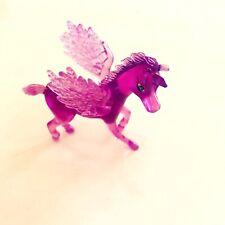Unicorn Winged Pegasus Mini Figure Transparent Purple Soft Vinyl Plastic