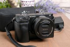 Sony Alpha a6300 Mirrorless 4K Camera Body with 16-50mm PZ Lens & Half Case