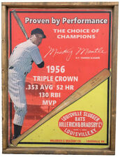 Antique Style Mickey Mantle Hillerich Bradsby Baseball Bat Advertisement ! 18x24