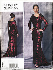 VOGUE SEWING PATTERN 1475 MISSES SZ 6-14 BADGLEY MISCHKA MAXI EVENING DRESS/GOWN