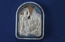 1978 Hamilton Mint Ten Commandments II Not Graven Image Silver Art Bar P0129