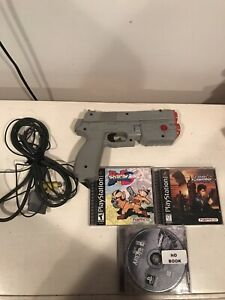 Playstation 1 PS1 Namco Guncon Light Gun. Point Blank 3,time Crisis And Area 51.