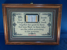 """New! Bible Verse Plaques/Signs """"ALL THINGS WORK TOGETHER..."""" Christian Gifts $35"""