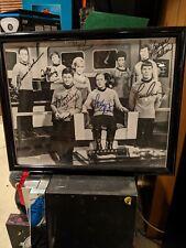 Star Trek, Original Series, Signed Cast Members, Framed Picture.