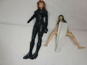LOT OF 2 ANIME MANGA HENTAI ACTION FIGURES 1997 MEDICOM TMS SEXY WOMAN IN LATEX