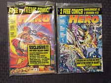 1994 HERO ILLUSTRATED Price Guide Magazine #8 9 LOT of 2 Sealed w/ All Inserts