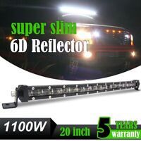 "20"" 1100W Barre LED Phare Longue Portée SUV VTT Bateau Rampe De Toit Light Bar"